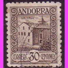 Sellos: ANDORRA, 1931 PAISAJES DE ANDORRA, EDIFIL Nº 21D (O). Lote 39196793