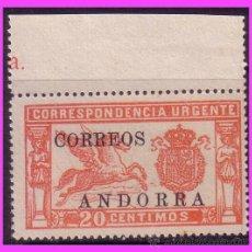 Sellos: ANDORRA, 1928 ALFONSO XIII HABILITADOS, EDIFIL Nº 14 (*). Lote 39197071