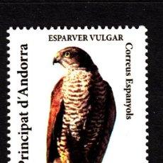 Sellos: ANDORRA 368** - AÑO 2009 - PATRIMONIO NATURAL - FAUNA - AVES DE PRESA - GAVILAN . Lote 40378670