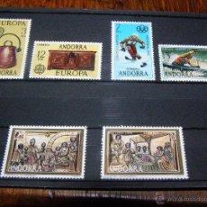Sellos: SELLOS ESPAÑA ANDORRA, 1976 COMPLETO - EDIFIL Nº 102 A 107 - 6 VALORES - NUEVOS - . Lote 40689103