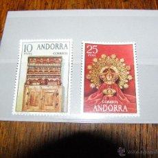 Sellos: SELLOS ESPAÑA ANDORRA, 1974 - ARTESANIA - EDIFIL Nº 91 A 92 - 2 VALORES - NUEVOS - . Lote 40689306