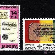 Sellos: ANDORRA 157/58** - AÑO 1982 - EUROPA - HECHOS HISTORICOS. Lote 41086033