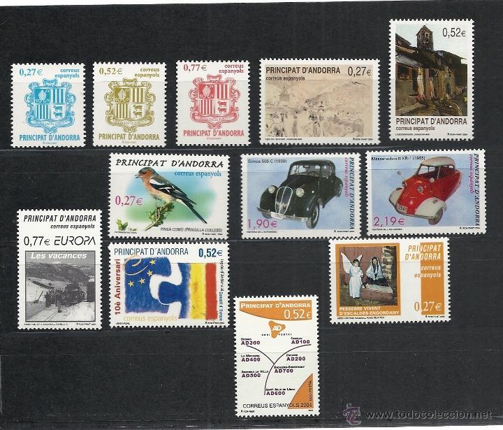 ANDORRA ESPAÑOLA 2004 - AÑO COMPLETO (Sellos - España - Dependencias Postales - Andorra Española)