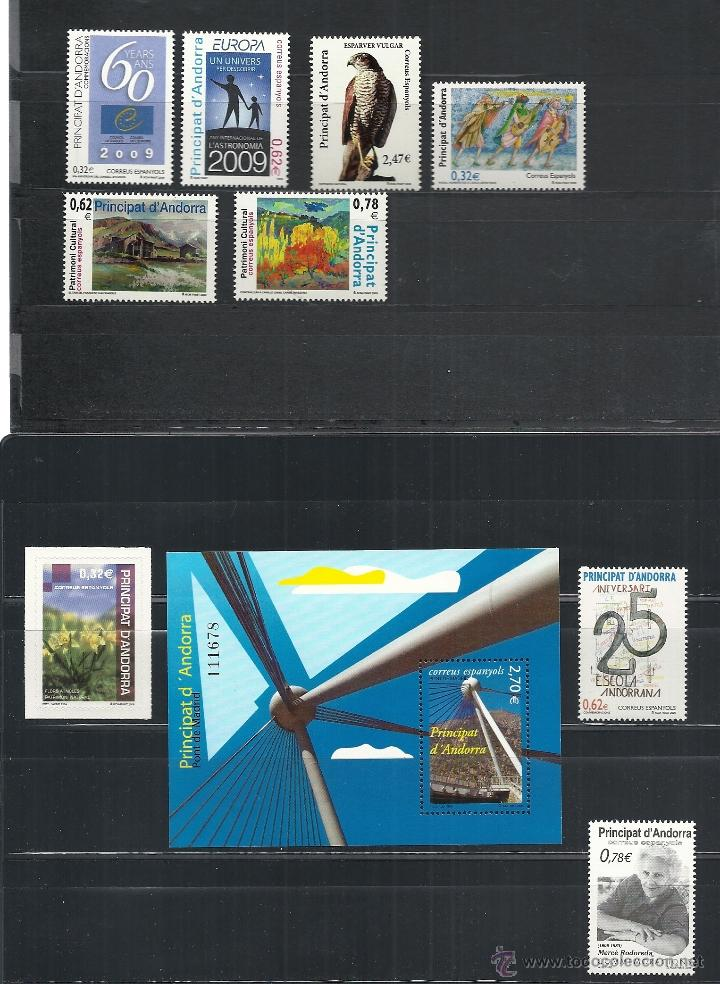 ANDORRA ESPAÑOLA 2009 - AÑO COMPLETO (Sellos - España - Dependencias Postales - Andorra Española)