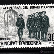 Sellos: ANDORRA 142** - AÑO 1981 - 50º ANIVERSARIO DE LA CREACION DEL SERVEI DE ORDRE. Lote 43760184