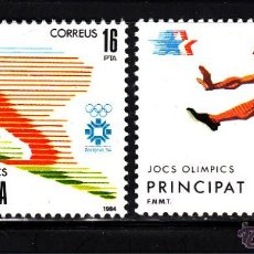 Sellos: ANDORRA 176/77** - AÑO 1984 - JUEGOS OLÍMPICOS DE LOS ANGELES Y DE SARAJEVO. Lote 43799754