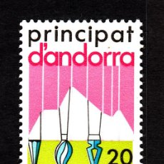 Sellos: ANDORRA 182** - AÑO 1984 - CENTRO DE ENCUENTROS DE CULTURAS PIRENAICAS. Lote 43799866