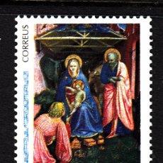 Sellos: ANDORRA 234** - AÑO 1992 - NAVIDAD - PINTURA RELIGIOSA - OBRA DE FRA ANGELICO. Lote 44325623