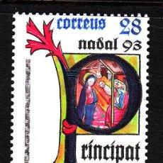 Sellos: ANDORRA 239** - AÑO 1993 - NAVIDAD - MISAL DEL OBISPO GALCERAN DE VILANOVA. Lote 44325654