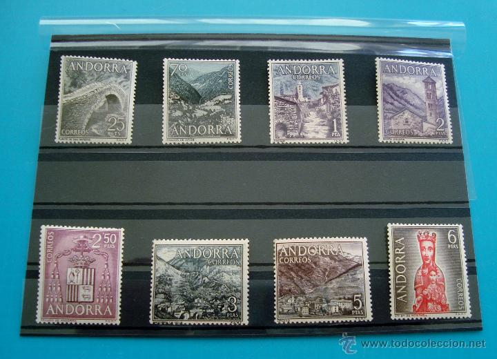SELLOS ANDORRA 1963 1964 EDIFIL 60 AL 67 NUEVOS SIN FIJASELLOS ** SERIE COMPLETA (Sellos - España - Dependencias Postales - Andorra Española)