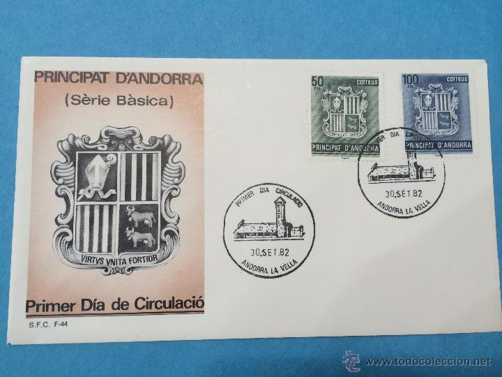 Sellos: ANDORRA ESPAÑOLA - SPD - 2 SOBRES PRIMER DIA SERIE BASICA 1982 - Foto 2 - 46022705