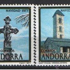 Sellos: ANDORRA NAVIDAD 1977 EDIFIL NUM. 110/1 ** SERIE COMPLETA SIN FIJASELLOS. Lote 106142543
