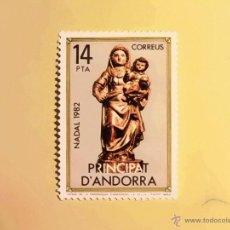 Sellos: NAVIDAD-1982 - EDIFIL 166 - VIRGEN DE LA PARROQUIA DE ANDORRA LA VIEJA. Lote 47577432