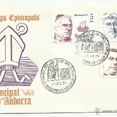 Sellos: SPD ANDORRA 1979 COPRINCIPES EPISCOPALES. Lote 50310316