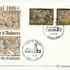 Sellos: SPD ANDORRA 1981 NAVIDAD. Lote 56120180