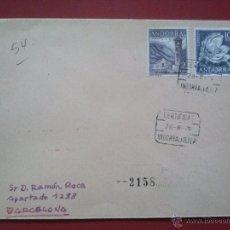 Sellos: SOBRE CIRCULADO CERTIFICADO DE ANDORRA LA VELLA A BARCELONA 28 AGOSTO 1979 , EDIFIL 71 + 63. Lote 51556802