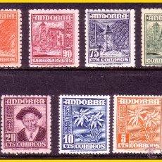Sellos: ANDORRA 1948 TIPOS DIVERSOS EDIFIL Nº 45 A 55 * * . Lote 52536674