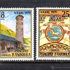 Sellos: ANDORRA 128/29** - AÑO 1979 - NAVIDAD - IGLESIA ROMANICA DE SANTA COLOMA. Lote 222720607