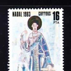 Sellos: ANDORRA 174** - AÑO 1983 - NAVIDAD - PINTURAS ROMANICAS DE SAN CERNI DE NAGOL. Lote 222720685