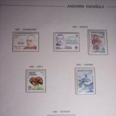 Sellos: ANDORRA ESPAÑOLA AÑO 1985 (COMPLETO) NUEVO . Lote 52981569