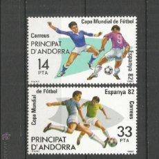 Sellos: ANDORRA EDIFIL NUM. 159/160 ** SERIE COMPLETA SIN FIJASELLOS. Lote 222654582