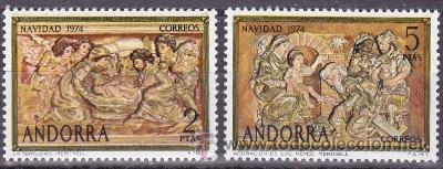 EDIFIL 94/95 NAVIDAD-1974 (Sellos - España - Dependencias Postales - Andorra Española)