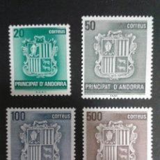 Sellos: SELLOS DE ANDORRA. ESCUDOS. HERÁLDICA. EDIFIL 209/12. SERIE COMPLETA NUEVA SIN CHARNELA.. Lote 54277047