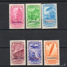 Sellos: ANDORRA ESPAÑOLA=EDIFIL 7/12=HISTORIA DEL CORREO=AÑO 1943=CATALOGO:267 EUROS=REF:0684. Lote 58242819