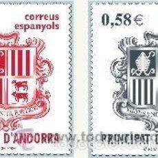Sellos: ANDORRA ESPAÑOLA 2007 (343-344) ESCUDO (NUEVO). Lote 58273000