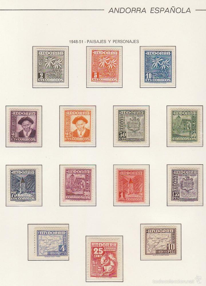 ÁLBUM : XX/X AÑOS 1948/1982 (Sellos - España - Dependencias Postales - Andorra Española)
