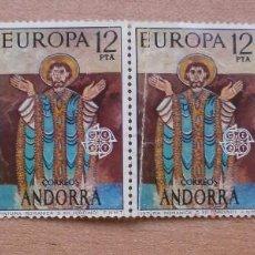 Sellos: SG TIRA 4 SELLOS ANDORRA, EUROPA 12 PESETAS, NUEVOS, CON GOMA. Lote 61401723