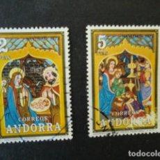 Francobolli: ANDORRA,CORREO ESPAÑOL,1973,NAVIDAD,EDIFIL 87-88,COMPLETA,USADOS,(LOTE AB). Lote 74323211