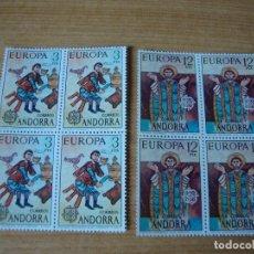 Sellos: ANDORRA ESPAÑOLA EDIFIL 97/98 BLOQUE DE 4 NUEVOS SIN CHARNELAS. Lote 74350831