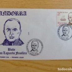 Sellos: ANDORRA ESPAÑOLA - ANDORRE ESPAGNOL BISBE CO-PRINCES JOAN LAGUARDA FENOLLERA FDC EDIFIL Nº 175 YVERT. Lote 75217587