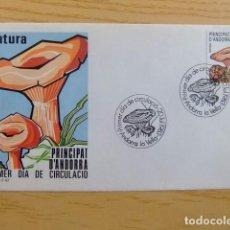 Sellos: ANDORRA ESPAÑOLA - ANDORRE ESPAGNOL HONGOS FLORE CHAMPIGNON FDC EDIFIL Nº 170 + 181 + 235 YVERT Nº 1. Lote 75217851