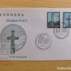 Sellos: ANDORRA ESPAÑOLA - ANDORRE ESPAGNOL AÑO 1977 NAVIDAD - NOËL FDC EDIFIL Nº 110 / 111 YVERT Nº 102 / 1. Lote 75218035