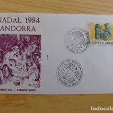 Sellos: ANDORRA ESPAÑOLA - ANDORRE ESPAGNOL AÑO 1984 NAVIDAD - NOËL FDC EDIFIL Nº 183 YVERT Nº 171. Lote 75218355
