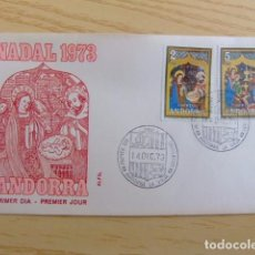 Sellos: ANDORRA ESPAÑOLA - ANDORRE ESPAGNOL AÑO 1973 NAVIDAD - NOËL FDC EDIFIL Nº 87 / 88 YVERT Nº 79 / 80. Lote 75218531