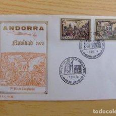 Sellos: ANDORRA ESPAÑOLA - ANDORRE ESPAGNOL AÑO 1976 NAVIDAD NOËL FDC EDIFIL Nº 106 / 107 YVERT Nº 98 / 99. Lote 75218811
