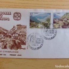 Sellos: ANDORRA ESPAÑOLA - ANDORRE ESPAGNOL AÑO 1977 EUROPA FDC EDIFIL Nº 108 / 109 YVERT Nº 100 / 101. Lote 75218955