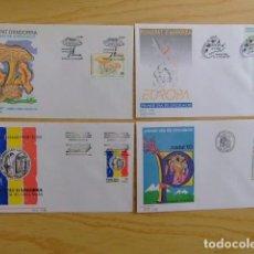 Sellos: ANDORRA ESPAÑOLA - ANDORRE ESPAGNOL AÑO COMPLETO 1993 FDC EDIFIL Nº 235 / 239 YVERT Nº 221 / 225. Lote 75220931
