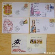 Sellos: ANDORRA ESPAÑOLA - ANDORRE ESPAGNOL AÑO COMPLETO 1987 FDC EDIFIL Nº 195 / 202 YVERT Nº 182 / 189 -BF. Lote 75221727