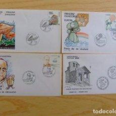 Sellos: ANDORRA ESPAÑOLA - ANDORRE ESPAGNOL AÑO COMPLETO 1986 FDC EDIFIL Nº 190 / 194 YVERT Nº 177 / 181. Lote 75222523