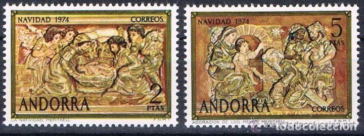 ANDORRA ESPAÑOLA 1974 (94-95) NAVIDAD (NUEVO) (Sellos - España - Dependencias Postales - Andorra Española)