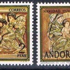 Sellos: ANDORRA ESPAÑOLA 1974 (94-95) NAVIDAD (NUEVO). Lote 76582779
