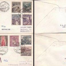 Sellos: ANDORRA EDIFIL 60/7, TIPOS DIVERSOS, PRIMER DIA DE 28-2-1964 EN 2 SOBRES DE ALFIL CIRCULADO. Lote 78148721