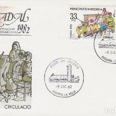 Sellos: ANDORRA EDIFIL 166/7, NAVIDAD 1982, PRIMER DIA DE 9-12-1982 SFC. Lote 78139145