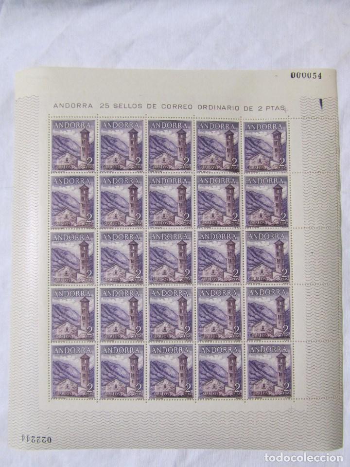 Sellos: 4 bloques de 25 sellos cada uno Andorra española Correo ordinario - Foto 2 - 79934009