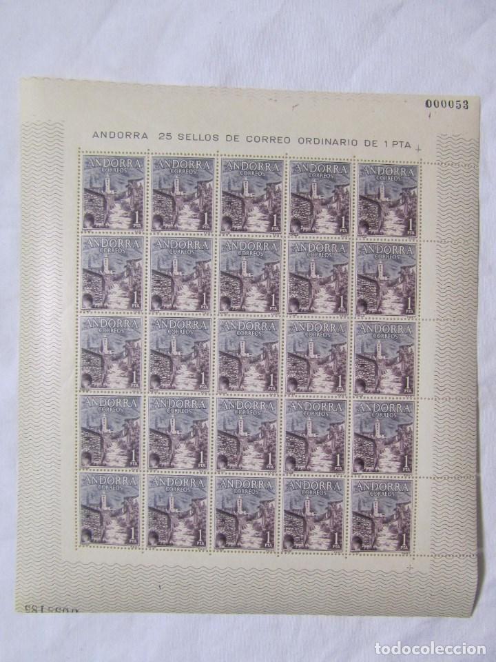 Sellos: 4 bloques de 25 sellos cada uno Andorra española Correo ordinario - Foto 5 - 79934009