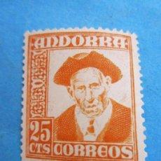 Sellos: SELLO 25 CTS, CORREOS ANDORRA , . Lote 81574136